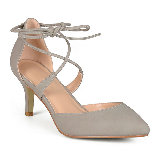 Journee Collection Womens Cairo Pumps Lace-up Pointed Toe