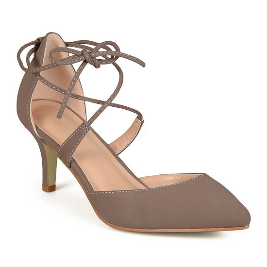 Journee Collection Womens Pumps Lace-up Pointed Toe