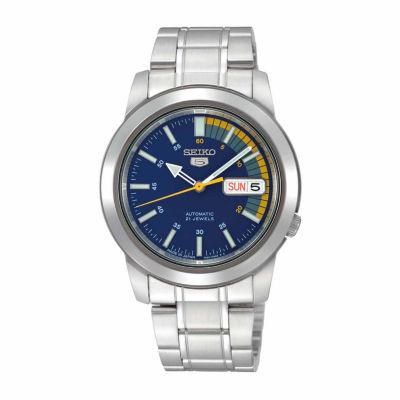 Seiko Mens Silver Tone Bracelet Watch-Snkk27