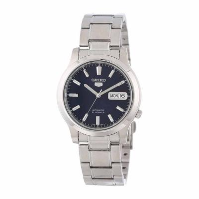 Seiko Mens Silver Tone Bracelet Watch-Snk793