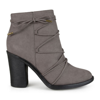 Journee Collection Womens Booties Zip