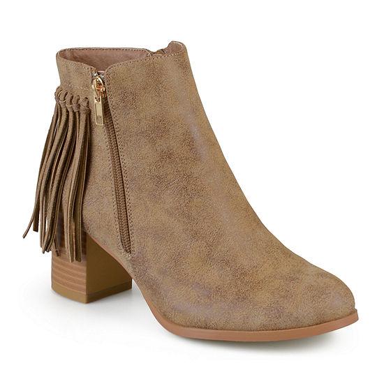 Journee Collection Womens Viv Booties Zip