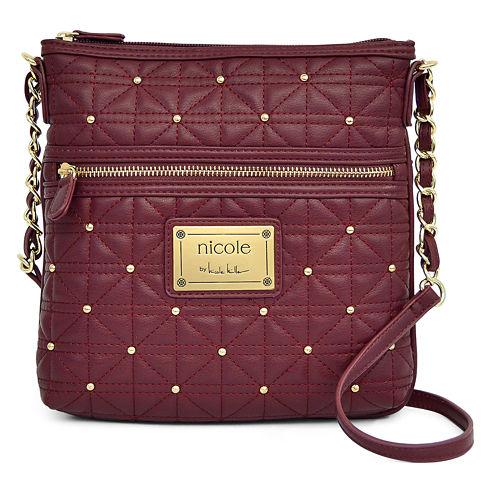 nicole by Nicole Miller® Randy Studded Crossbody Bag