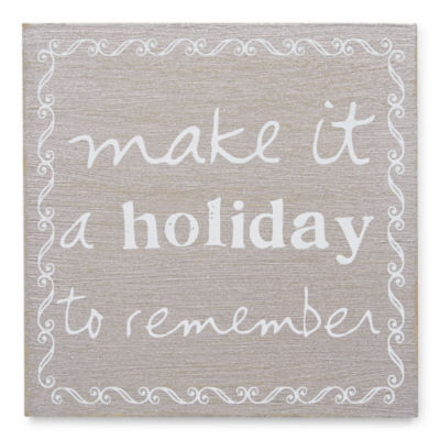 Holiday Plaque