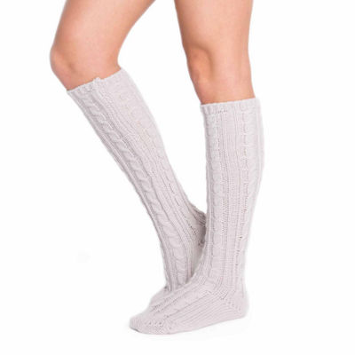 Muk Luks 1pr Cable Knee High Socks