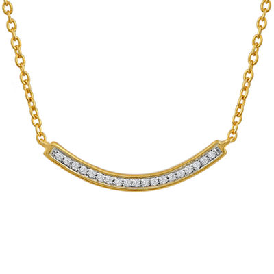 Womens Diamond Accent 14K Gold Over Silver Pendant Necklace