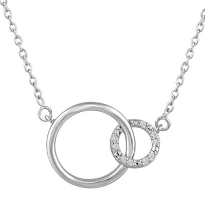 Women's Diamond Accent Sterling Silver Pendant Necklace
