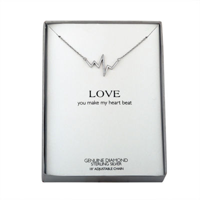 Diamond Accent Sterling Silver Pendant Necklace