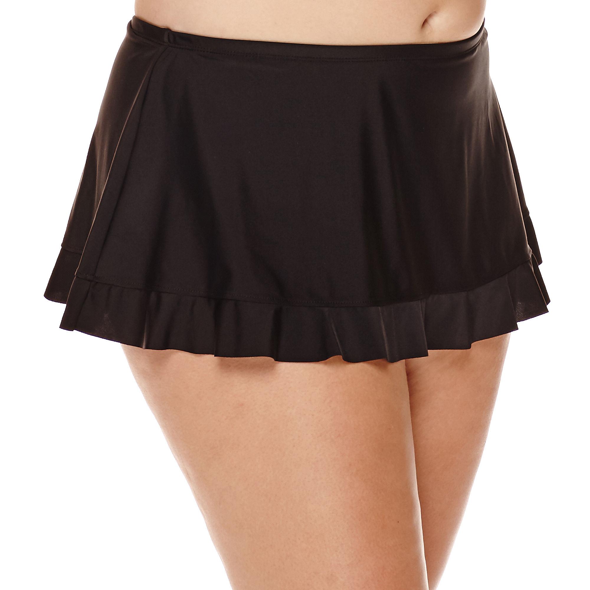 Arizona Black Skirtini Swim Bottoms - Juniors Plus plus size,  plus size fashion plus size appare