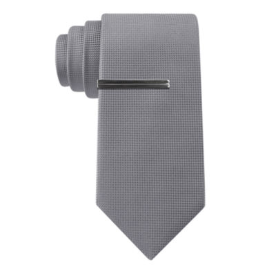 J.Ferrar Basket Solid Slim Tie