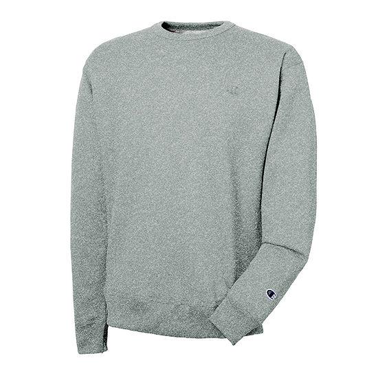 Champion® Mens Long-Sleeve Powerblend Fleece Crew Sweatshirt