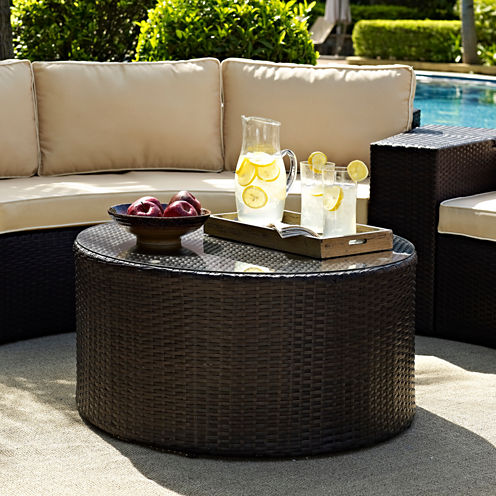 Crosley Catalina Wicker Patio Coffee Table