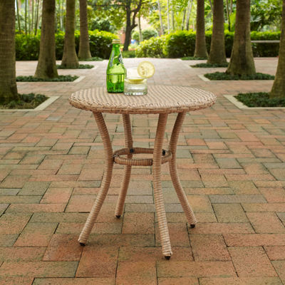 Crosley Palm Harbor Wicker Patio Side Table