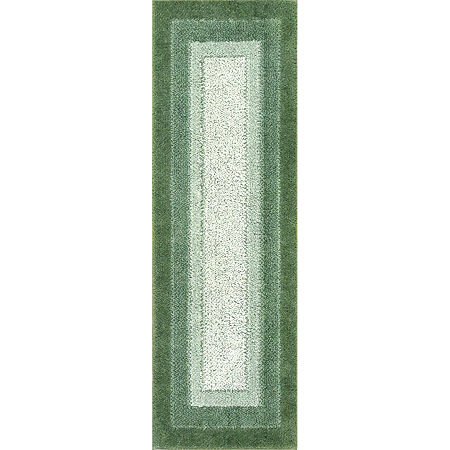 JCPenney Home McKenzie Washable Rectangular Rug, One Size , Green