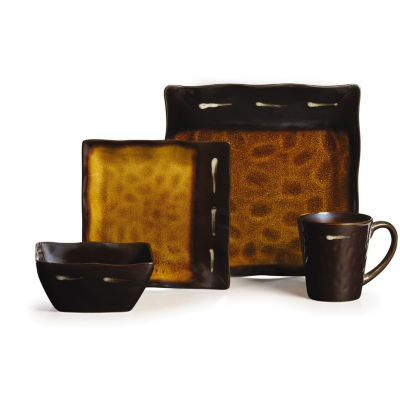 Gourmet Basics By Mikasa Gallatin Square 16-pc. Dinnerware Set