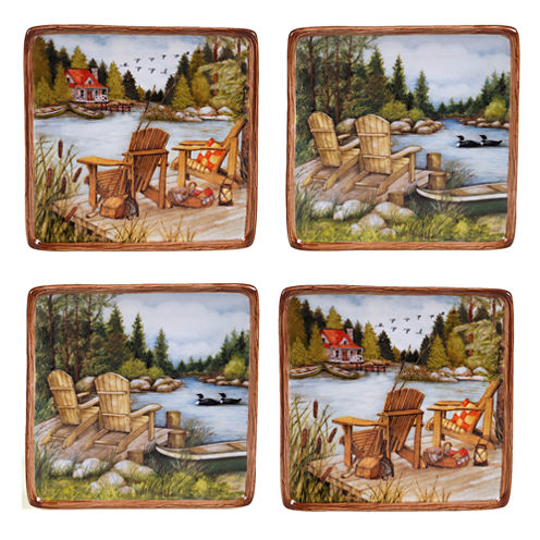 Certified International Lake Life 4-pc. Appetizer Plate