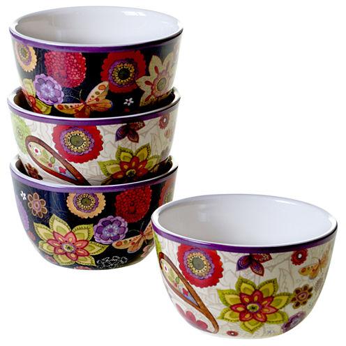 Certified International Coloratura 4-pc. Ice Cream Bowl