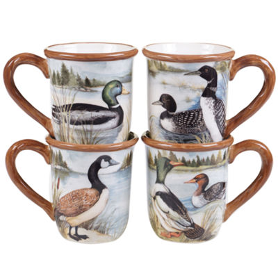 Certified International Lake Life 4-pc. Coffee Mug