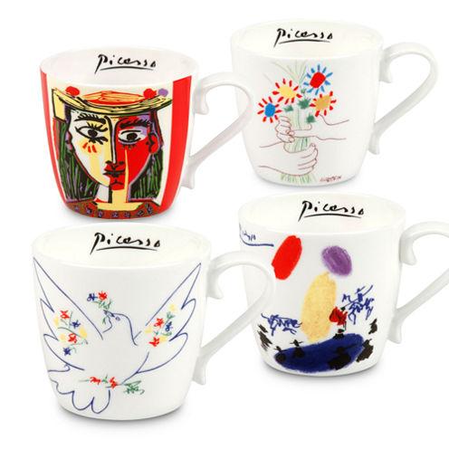 Konitz Picasso, Set of 4 Assorted, Coffee Mugs