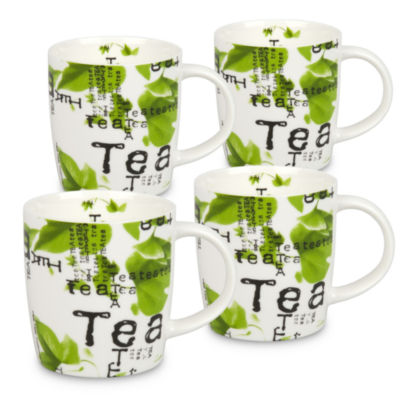 Konitz Tea Collage, Set of 4, Coffee Mugs