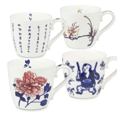 Konitz Chinese Fine Art, Set of 4, Coffee Mugs