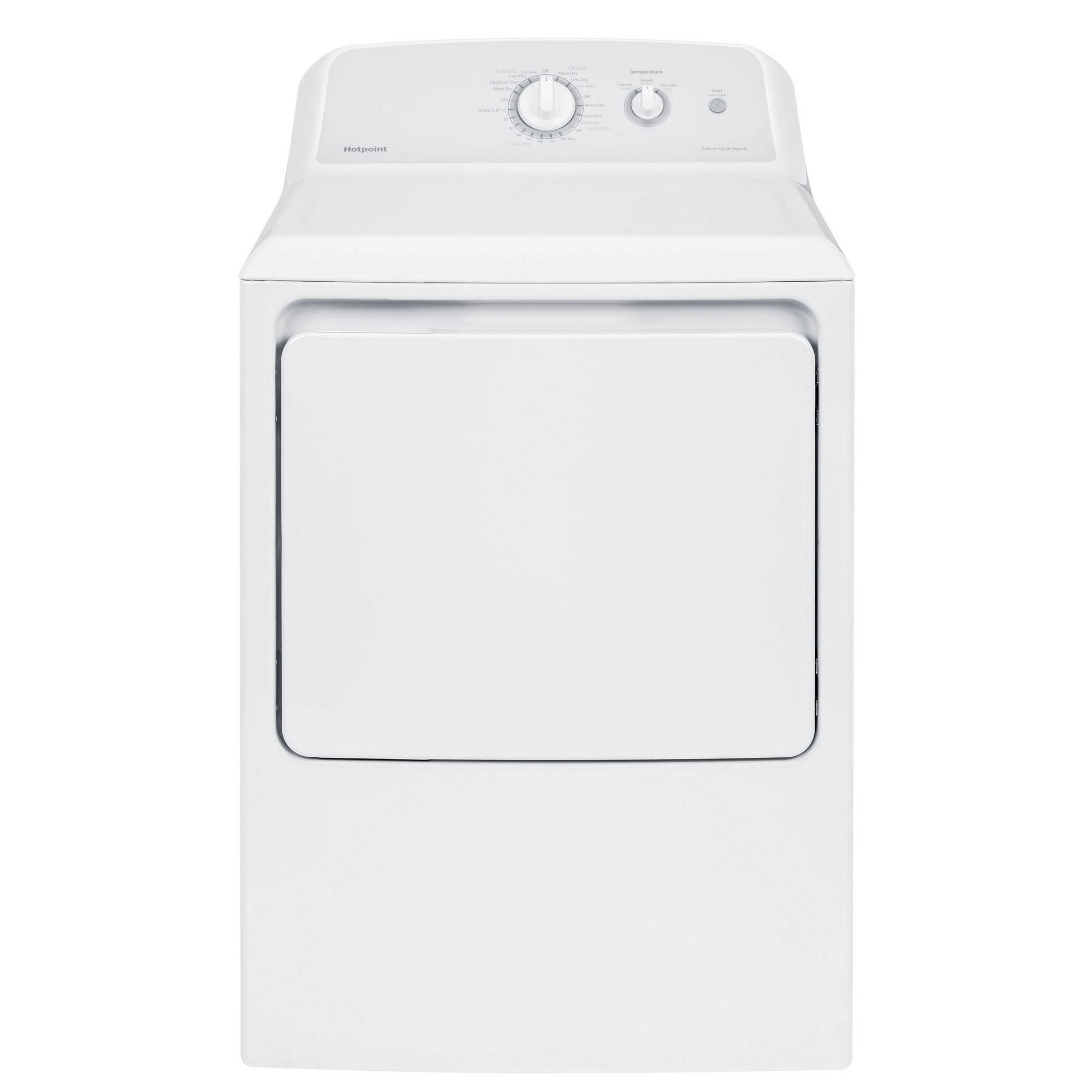 Hotpoint 6.2 cu. ft. Aluminized Alloy Gas Dryer - HTX24GASKWS