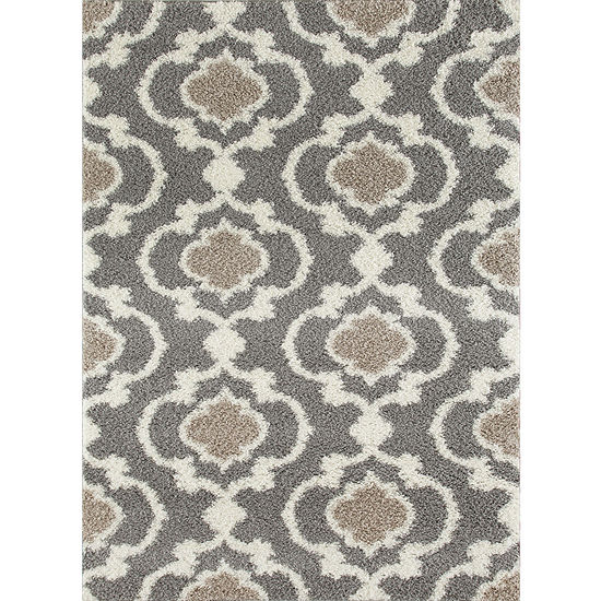 World Rug Gallery Florida Ogee Shag Rectangle Rugs