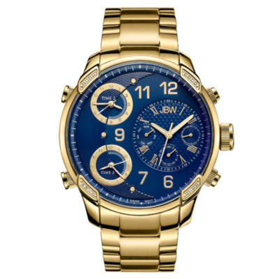JBW Mens Multi-Function Gold Tone Bracelet Watch-J6248k