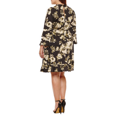 Soho Long Sleeve Empire Waist Dress-Plus