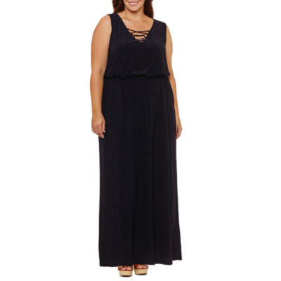 Soho Sleeveless Maxi Dress-Plus