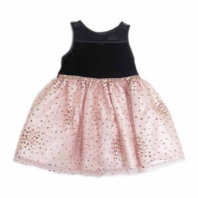 Lilt Sleeveless Black Pink Tulle Dress - Baby Girls