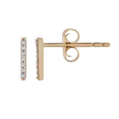 Diamond Accent Genuine White Diamond 10K Gold Stud Earrings