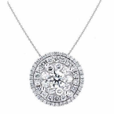 Brilliant Dream™  1 CT. T.W. Diamond Cluster Pendant Necklace