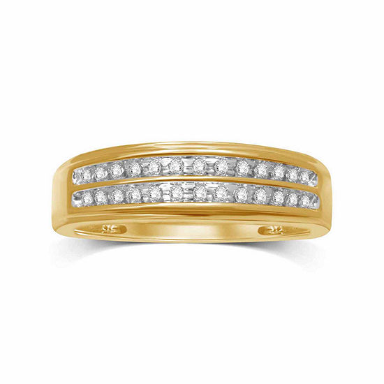 Mens 1/5 CT. T.W. Genuine Diamond 10K Gold Band
