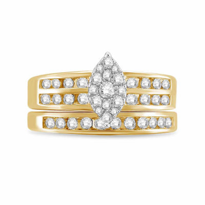 Womens 3/4 CT. T.W. Genuine Diamond 10K Gold Bridal Set