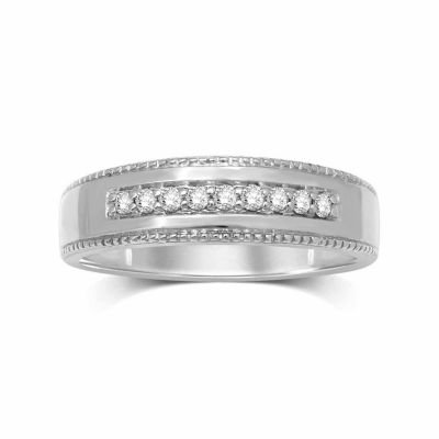 1/5 CT. T.W. Genuine Diamond 14K Gold Band