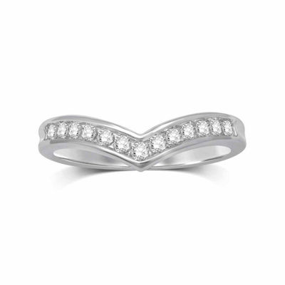 Womens 1/4 CT. T.W. White Diamond 10K Gold Band