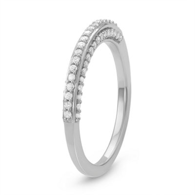 Womens 1/3 CT. T.W. White Diamond Sterling Silver Anniversary Band