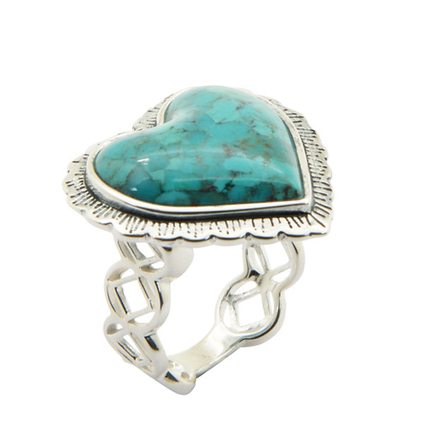 Fine Jewelry Silver Elements By Barse Womens Blue Turquoise Sterling Silver Cocktail Ring xPM1fney0g