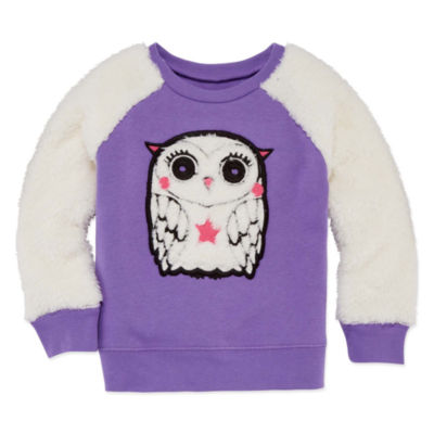 Okie Dokie Long Sleeve Critter Sweatshirt - Toddler Girls