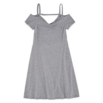 Insta GirlCold ShoulderSkater Dress - Big Kid Girls