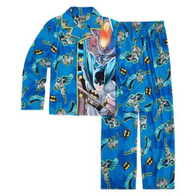 Batman Coat Front Pajama Set - Boys 4-20