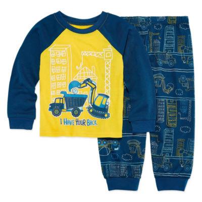 Kids Tractor Pajama Set Boys