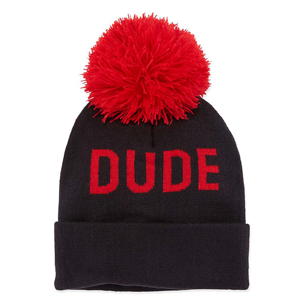 "City Streets ""Dude"" POM Beanie Hat - Boys 4-20"