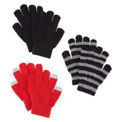 City Streets 3 Pack Glove Set - Boys 4-20