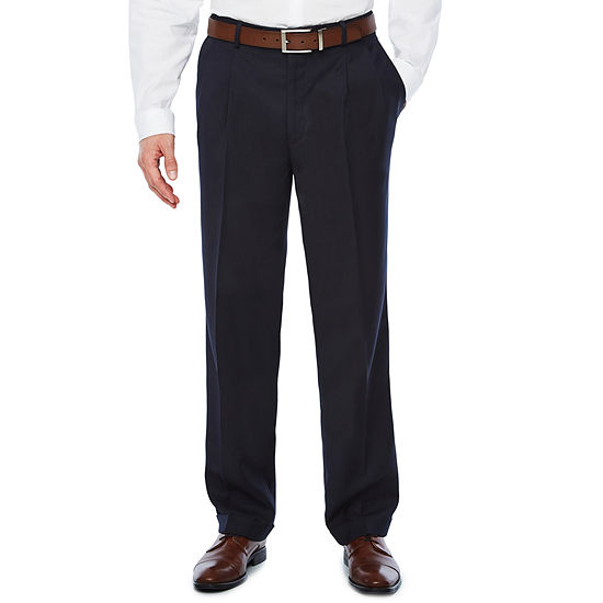 Stafford Classic Fit Pleated Pant