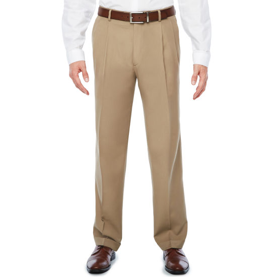 Stafford Mens Classic Fit Pleated Pant