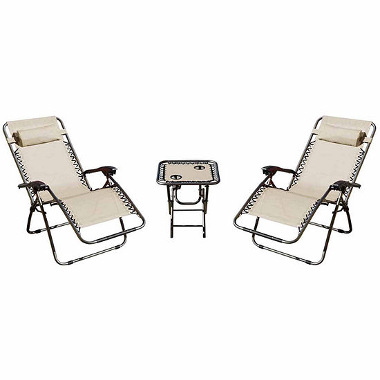 zero gravity 2 chairs and 1 table patio furniture set of 3 - Jcpenney Patio Furniture