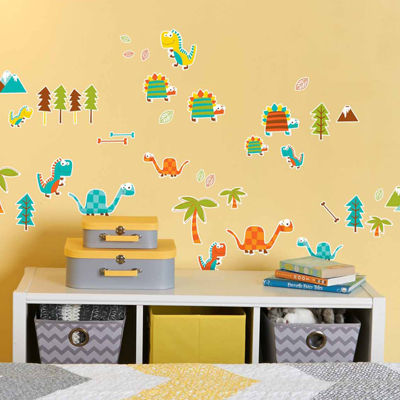 Dinosaur Friends Theme Prehistoric Home Room DecorRemovable Wall/Locker/Door/Decal Kids/Children