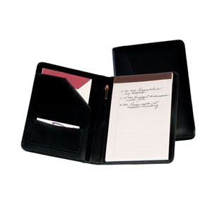 Royce Leather Compact Bonded Leather With Junior Sized Writing Pad Padfolio